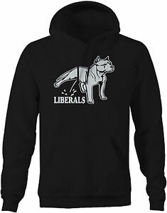 Hoodie Men -Pitbull Pee on Liberals Bull Breed Political Funny Conservative