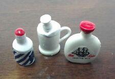 Dollhouse Miniature Shaving Cream Brush & Mug Lotion 3 pc Set  Multi Minis.1:12