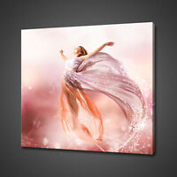 FAIRY FLYING GIRL FANTASY CANVAS PICTURE PRINT WALL ART HOME DECOR