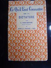 Ce qu'il faut connaître de la Dictature par Fr. Funk-Brentano 1928