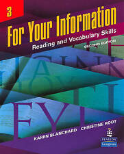 NEW For Your Information: Reading and Vocabulary Skills, No. 3, 2nd Edition