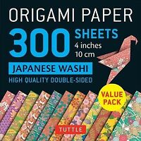 Origami Paper Japanese Washi Patterns 4 Inch 10cm : High Quality Double-Sided...