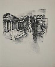 Robert DELAUNAY - lithographie originale - Paris, la Madeleine et les Boulevards