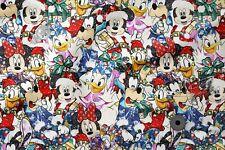 "Printed cotton 100% Eco-print ""DISNEY, CHRISTMAS"", Printed Fabric"