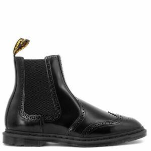Dr Martens Graeme Brogue Black Leather Chelsea Boots
