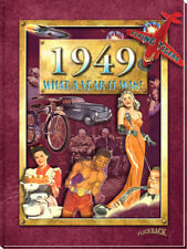 1949 What A Year It Was: 69th Birthday or Anniversary Hard Cover Book