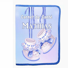 Protège carnet de santé personnalisable prénom date naissance bébé BB réf 10