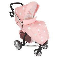 My Babiie MB200 From Birth Baby Pushchair / Pram - Pink Stars