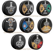 Vegas Golden Knights 8 Hockey Puck PKG Round 1, 2 & Western Conference Champions