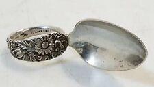 Antique S. Kirk & Son Sterling Silver 1828 Repousse Medicine Spoon .925