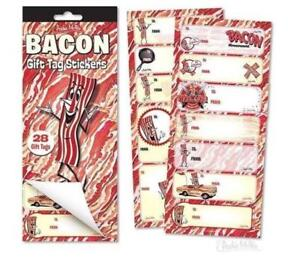 BACON GIFT TAG STICKERS Archie McPhee - CLOSEOUT