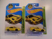 Hot Wheels - HW Workshop Porsche 911 GT3 RS Yellow - lot of 2