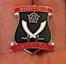 SHEFFIELD UNITED LARGE BLACK SHAPED SHIELD ENAMEL PIN BADGE