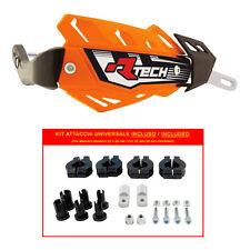 PARAMANI RACETECH FLX ALU ARANCIO + KIT MONTAGGIO (Handguards + Fitting Kit)