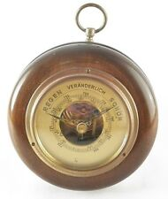 Lufft German Barometer 5350 Leidig Walnut Wood Case Regen Veranderlich Schon