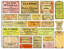 Apothecary Labels, 2 Sticker Sheets, Antique Pharmacy Bottle, Druggist Remedy