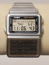 Rare 1985 Vintage CASIO DBC-600 (563) Data Bank Japan M 33mm Watch