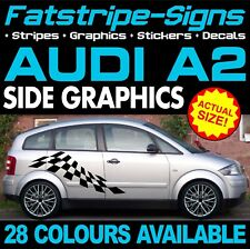 AUDI A2 GRAPHICS STRIPES STICKERS DECALS CAR VINYL S-LINE QUATTRO 1.2 1.4 1.6
