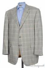 BRIONI Nomentano Recent Gray Plaid Check CASHMERE SILK Blazer Sport Coat - 48 L