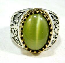 Gemstone Men'S Ring Size Gr2 66.05 Cts Green Color Topaz