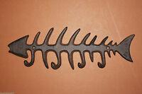 (2) STARVIN, LG, BONE FISH, BONE FISH WALL HOOK, BONE FISH DECOR, KEY HOLDER, N-