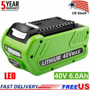 For Greenworks 2901319 G-MAX 40V 6.0Ah Lithium Battery 29472 29462 20202 29252