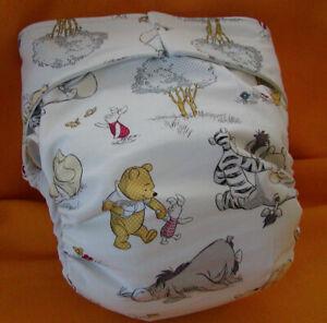 Adult All In One Reusable Super Absorbent Cloth Diaper S,M,L,XL Pooh Togetherish