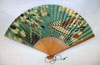 Vintage Japan Airlines JAL Advertising Hand Held Fan - Fantastic Colors
