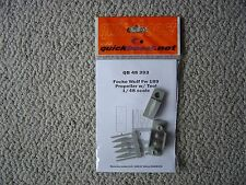 Quickboost 1/48 Fw189 corrected props/spinners (w/assembly tool)