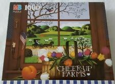 Milton Bradley Charles Wysocki Cheer Up Farms 1000 Piece Puzzle Complete