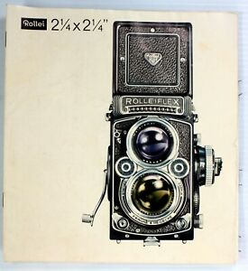 Original Rolleiflex Sales Brochure for all Rollei TLR 6x6 - 8 pages,printed 1962