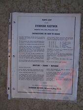 1954 Evinrude Outboard Fleetwin Parts List 7514 7515 7516 7517  MORE IN STORE  U