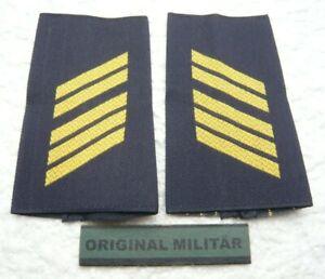 Aufschiebeschlaufen Marine Oberstabsgefreiter  gold/blau Bw Dienstgradabzeichen