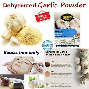100% Pure Garlic Powder Dehydrated Allium sativum High Quality Ceylon Spices 50g