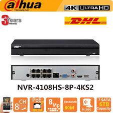 Dahua NVR4108HS-8P-4KS2 8CH POE 4K 8MP NVR POE P2P H.265 6TB Capacity CCTV DVR