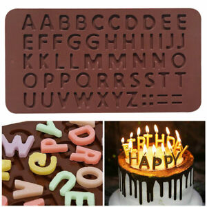 Alphabet Letters Chocolate Mold Ice Tray Silicone Cake Ice Fondant Mould