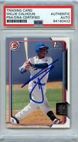 Willie Calhoun Signed 2015 Bowman Card PSA/DNA Slabbed Autographed AUTO