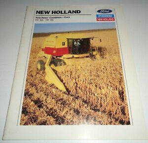 Ford TR86 TR96 Combine Sales Brochure! Original NH literature