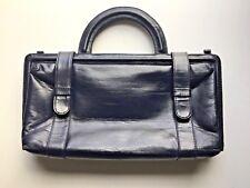 Gorgeous Tano Black Leather Doctors Bag. Large Hand Bag Purse.