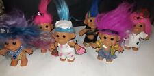 """Lot of 6 Vintage Russ  Trolls 4"""" Excellent condition"""