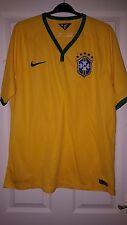 Mens Football Shirt - Brazil Brasil - Home 2014-16 - Yellow & Green - Nike - XL