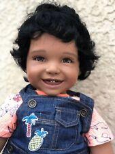 "Reborn 22"" African American/Ethnic/Biracial/Hispanic Toddler Boy Doll ""Mario""-"