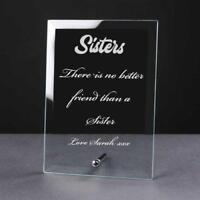 Personalised Engraved Glass Plaque Sister Gift PEG-SIS