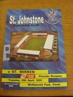 09/04/1991 St Johnstone v St Mirren  (the item is in good/very good condition wi