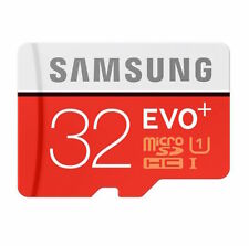 32GB Samsung EVO+ Read 80MB/s Micro SDHC UHS-I Class 10 Memory Card + SD Adapter