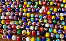 "Lampwork beads 10mm glass round  14"" s LOT OF 10 STRANDS 40+ per wholesale lot"