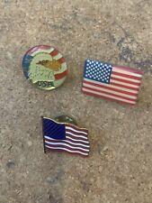 Job lot of USA America related metal lapel pin badges