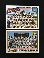 MILWAUKEE BREWERS UNMARKED TOPPS 1980 & 1981 TEAM BASEBALL CARDS