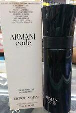 Armani Code By Giorgio Armani for Men EDT Spray 2.5 oz/75 ml, Brand New Testr
