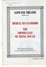 1963 Aldwych Theatre Programme - Importance of Being Oscar